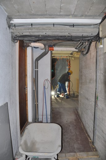 Préparation de la fosse de l'ascenseur