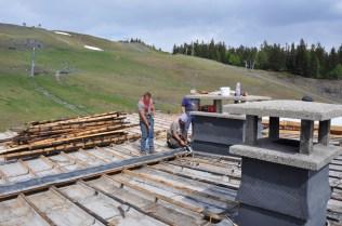 Démontage du toit