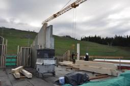 Installation de l'ossature bois du 4ème niveau