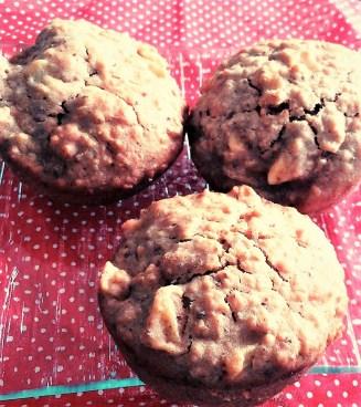 Muffin avoine pommes caramélisées