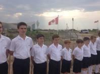 Tournage d'une émission canadienne sur les plages de Normandie
