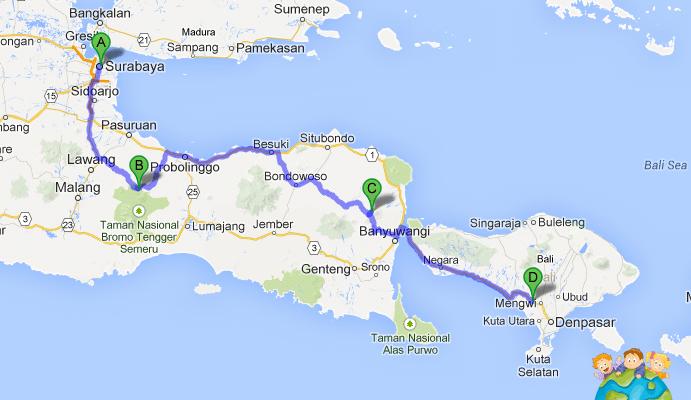 Itinéraire Java Bali avec enfants