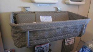 avion avec bébé : siège bassinet Singapore Airlines