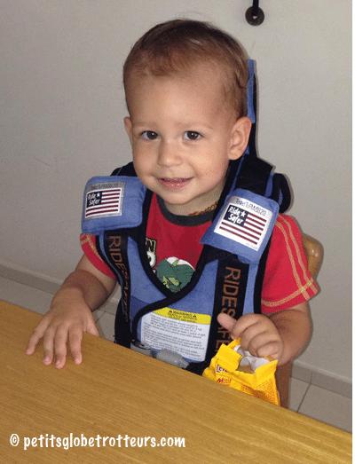 Ridersafer : gilet sécurité voiture enfant