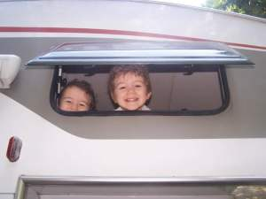 camping-car avec enfants