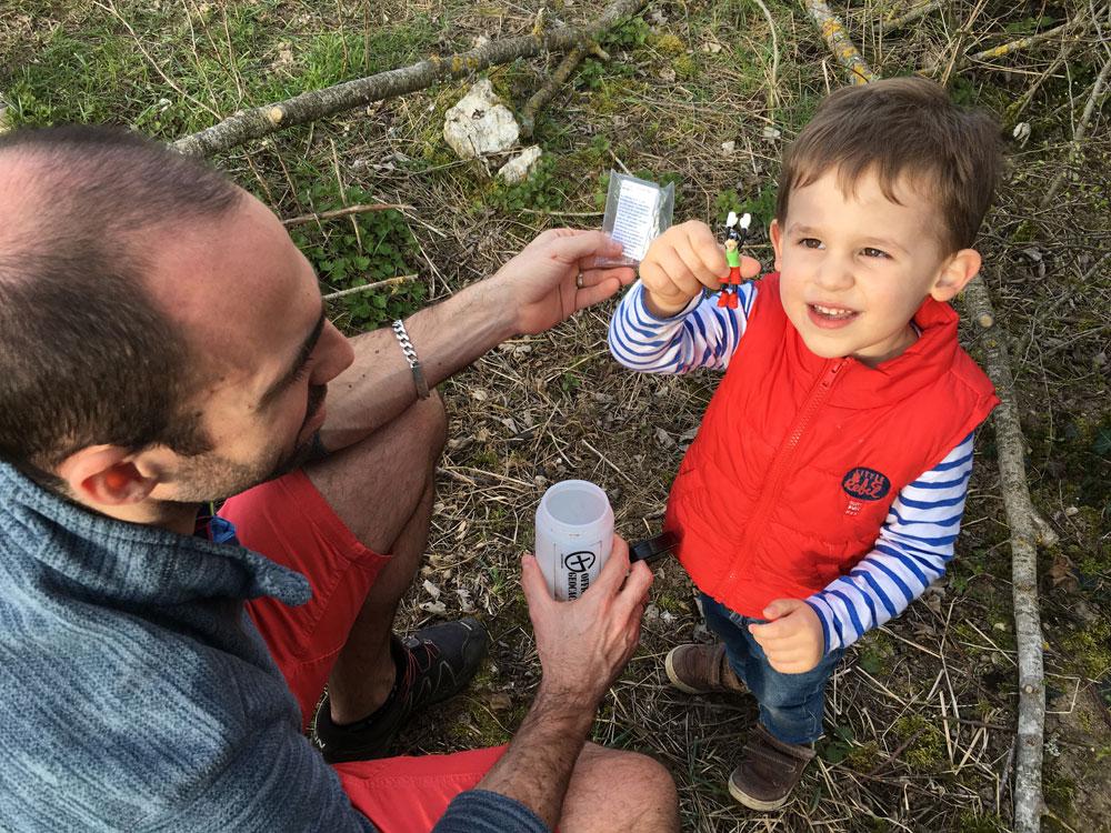geocache avec enfant 2 ans