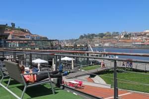 terrasse de resto à Porto avec vue sur le Douro