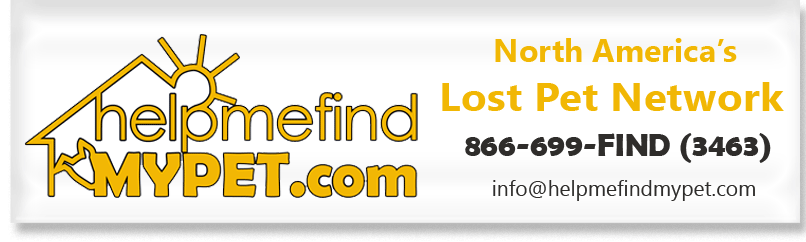 helpmefindMYPET Lost Pet Network