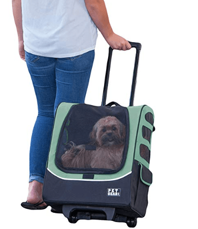 DOUDOU Pet Rolling Carrier Backpack Wheel Around for Hiking Travel Outdoor Airline Approved Cat Dog Carrier for Indoor /& Outdoor Use 4-in-1 Pet Travel Carrier