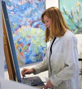 Amelia Alcock-White painting