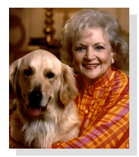 betty white and pet