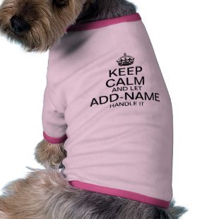Keep Calm Dog Shirts