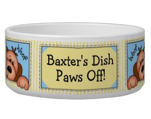 Cute Custom Pet Bowls that you can personalize
