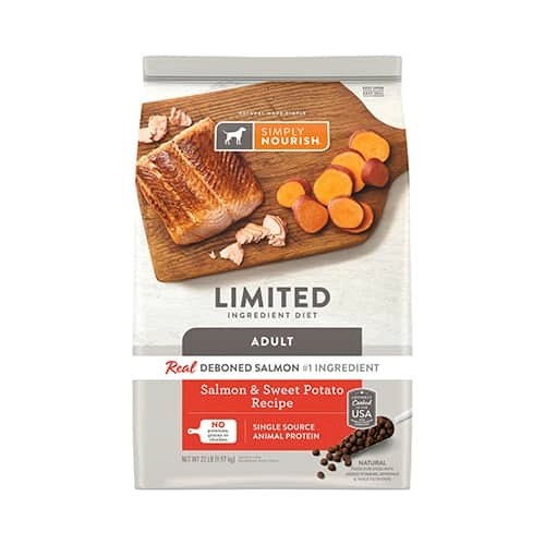 Simply Nourish Limited Ingredient Diet Salmon Sweet Potato Recipe Dry Dog Food 1