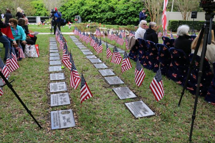 The ceremony memorializing law enforcement and war dogs was covered extensively by the media