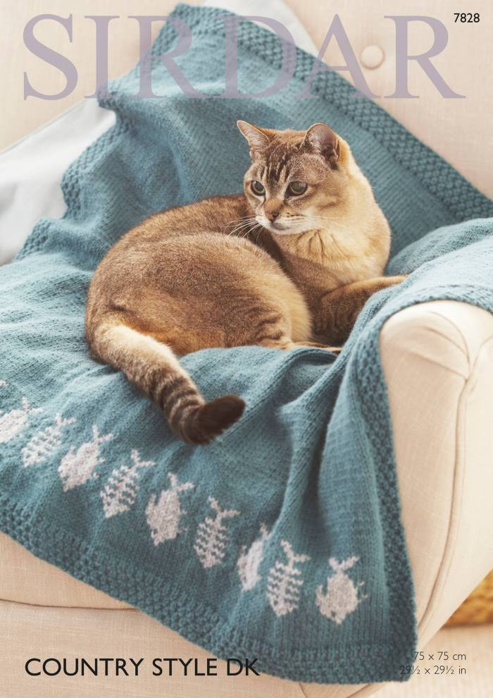 This knitting pattern is easy to follow and will make any kitty feel right at home and very special. Reproduced by permission of Sirdar Spinning Ltd.