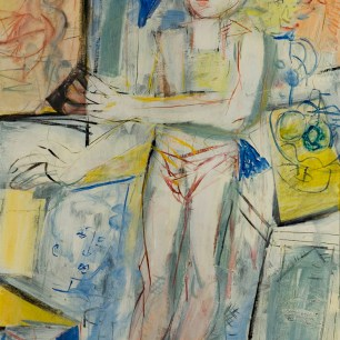 The Painter and His World, 1983, acrylic on canvas, 140 X 80 | Price €4000