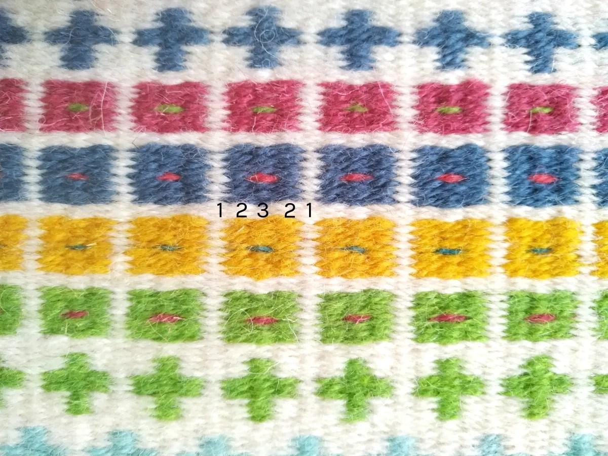 Krokbragd pattern squares
