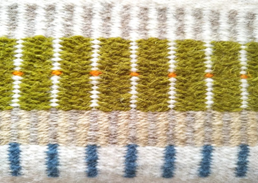 Krokbragd pattern close up