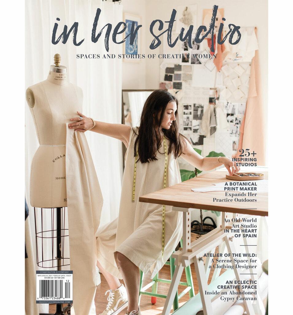 In Her Studio Summer 2021 - Article about Petra Marciniak Handwoven textiles