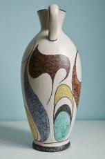 ES Keramik vase 1950s, height: ca. 30 cm, design: Willy Hack (?)
