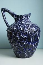 ES Keramik jug vase, form 883, height to top of the handle is 35 cm