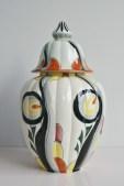Lidded jar marked Rosamary unknown maker (Dutch?)