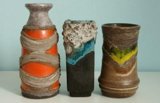 3 vases by Strehla