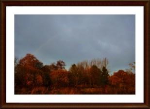 27-November ein schwacher Regenbogen überm Haus :)