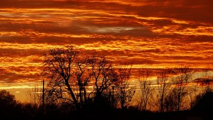 8-Dezember toller Sonnenuntergang