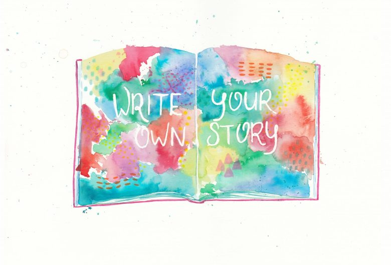 watercolor mixed media Illustratie Petra van Dreumel - write your own story
