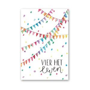 Wenskaart verjaardag slingers Dreams Petra van Dreumel