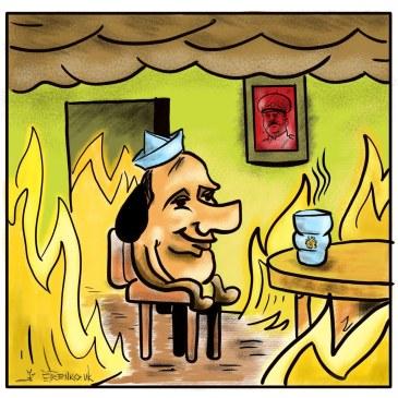 путин: #лодка — утонула, тайга — сгорела, россиия — …