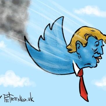 Хвост пробит, бак горит но трамп летит на честном слове и на одном крыле…
