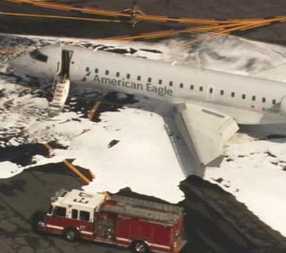 Plane hit a deer on runway