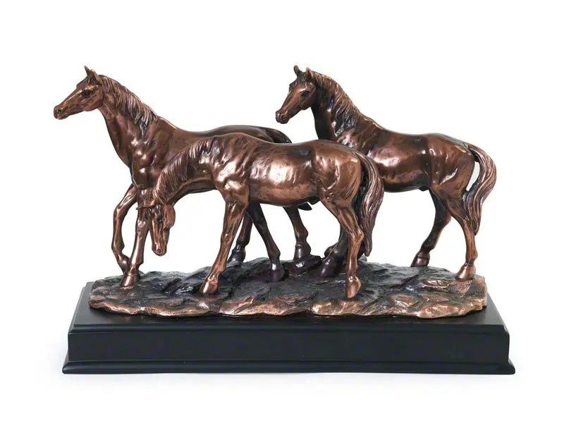 Lovely figurine horse shaped pet ashes keepsake urn for token equine ashes. Comes with Memory Capsule. Design your own optional engraved plaque to personalise.