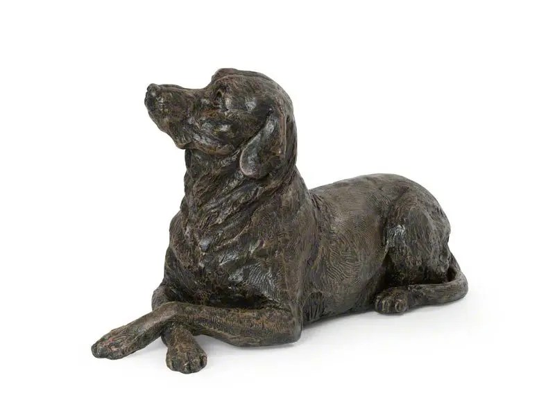 Beautiful figurine Labrador dog urns for pet dog ashes. Can be personalised.