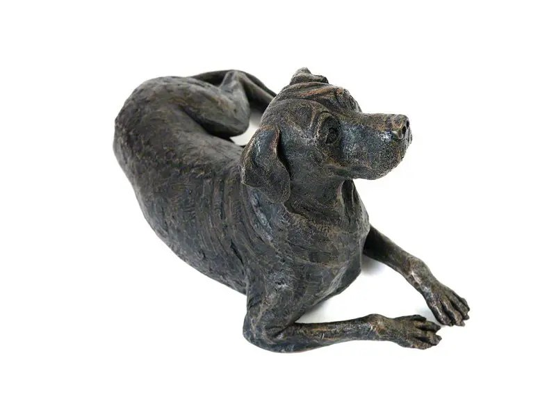 Beautiful figurine Rhodesian Ridgeback dog urns for pet dog ashes. Can be personalised.