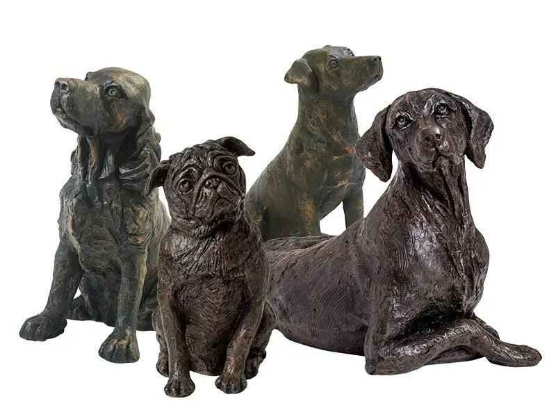 Our lovely dog figurine ashes keepsake urns are so discreet and look lovely in any setting. Sculptured ornamental ashes urns caskets for dogs.