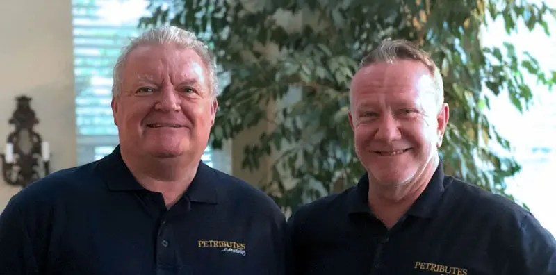 Alan Boot-Handford and Richard Bush of Petributes attend the 48th Annual Conference of the IAOPCC in Aurora CO, Sept 2019