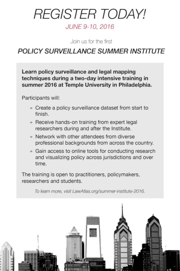 Policy Surveillance Summer Institute 2016