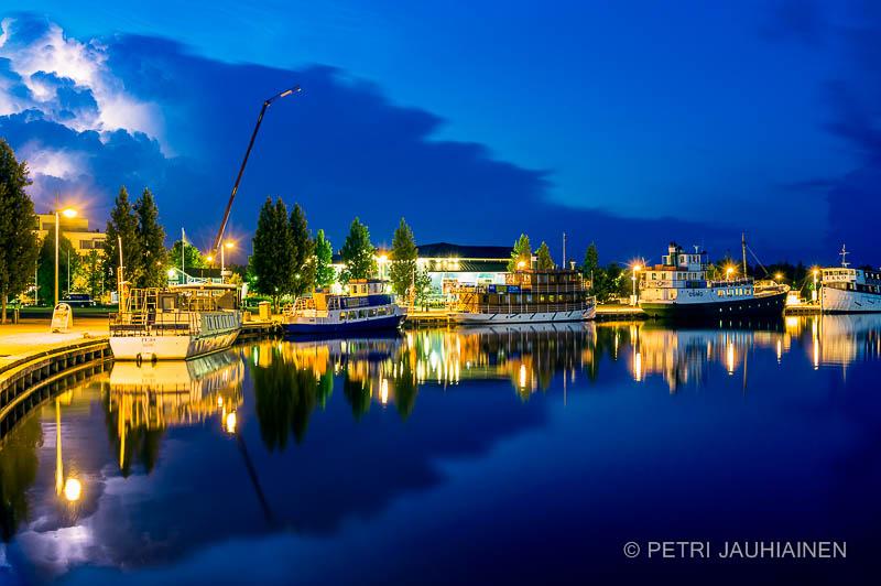Lightning above Kuopio harbour