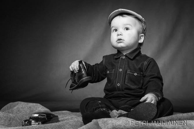 Lapsikuvaus studiossa valokuvaaja Petri Jauhiainen