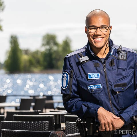 Konstaapeli Daniel Kalejaiye Kuopio