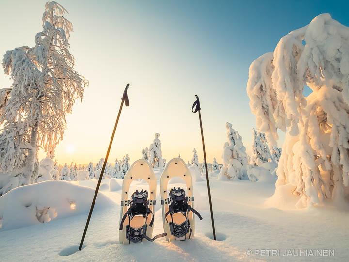 Kaunis talvinen maisema Ruotsin Lapissa valokuvaaja Petri Jauhiainen