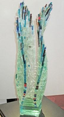 Finch-Legong-Dance, Medium: Glass Size: Artist: Gundi Finch