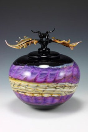 Amethyst-Opal-Covered-Sphere-with-Avian-Finial