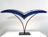 "Bird-Large, Medium: Hand Blown & Cast Glass Size: 22"" x 44"" x 7"" Artist: Susan Gott"