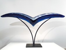 """Bird-Large, Medium: Hand Blown & Cast Glass Size: 22"""" x 44"""" x 7"""" Artist: Susan Gott"""