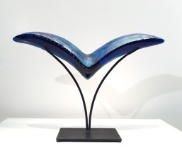 "Bird-Small, Medium: Hand Blown & Cast Glass #19158 Size: 17.5"" x 28"" x 6"" Artist: Susan Gott"